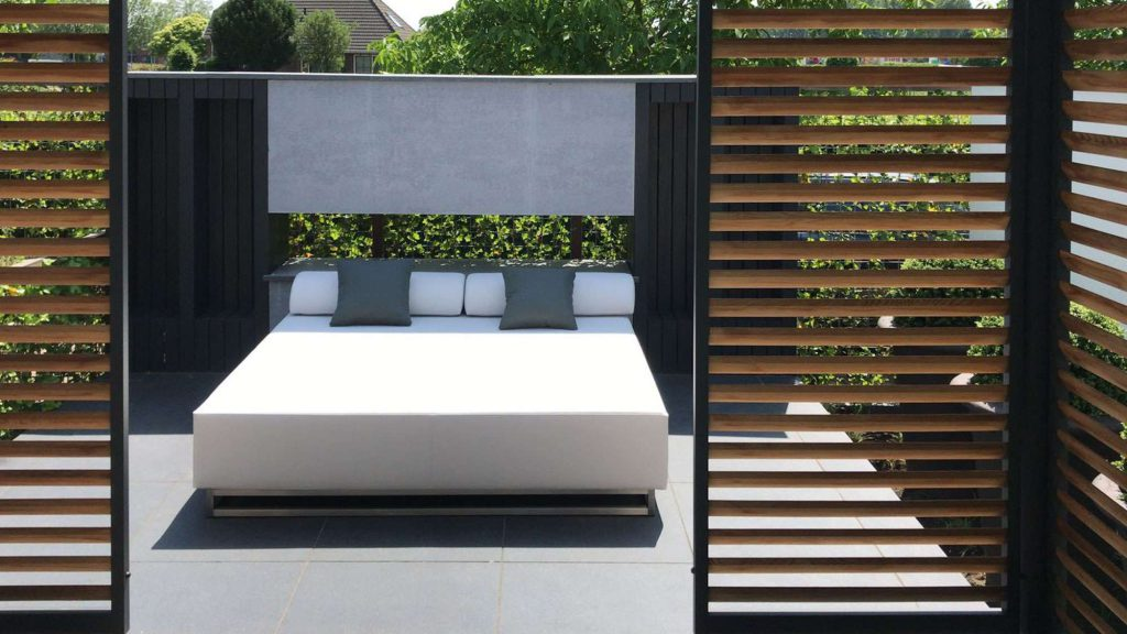 outdoor two seater lounge